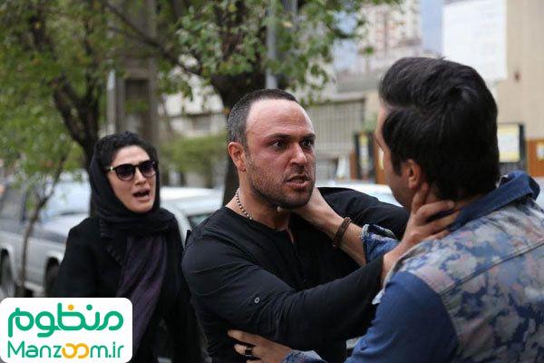 مینا ساداتی در صحنه فیلم سینمایی هاری به همراه علیرضا کمالی