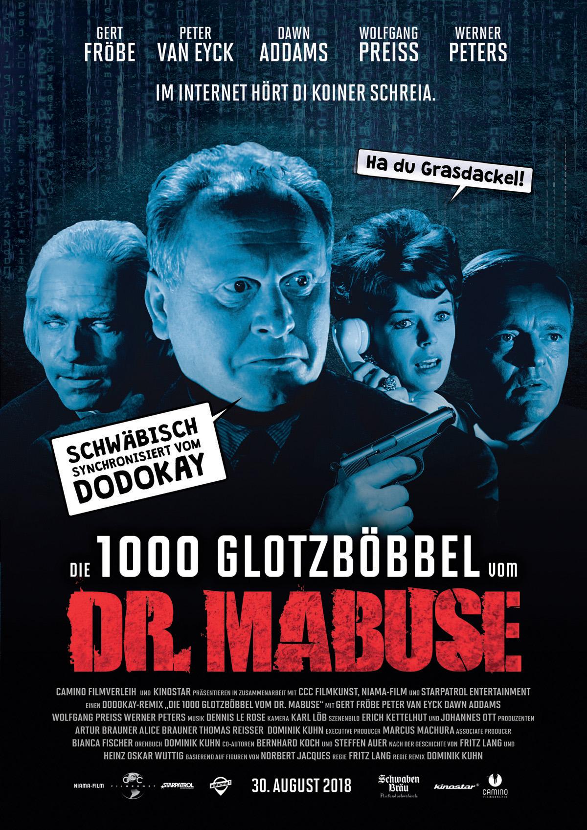 فیلم سینمایی Die 1000 Glotzböbbel vom Dr. Mabuse به کارگردانی فریتس لانگ و Dominik Kuhn