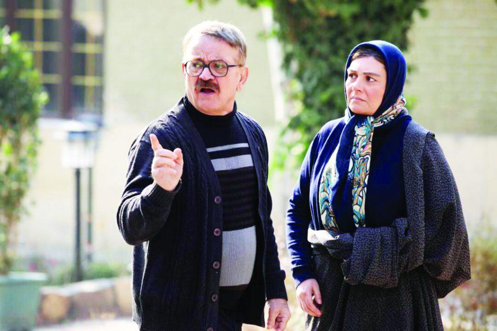 هنگامه قاضیانی در صحنه فیلم سینمایی به وقت خماری به همراه مهدی فخیمزاده
