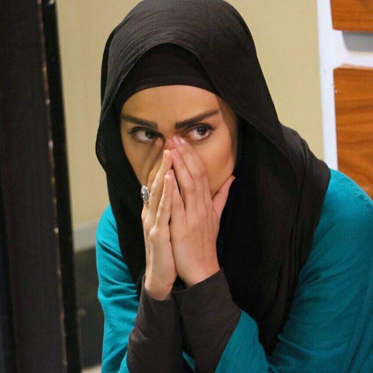 مریم خدارحمی در پشت صحنه سریال تلویزیونی دوردستها