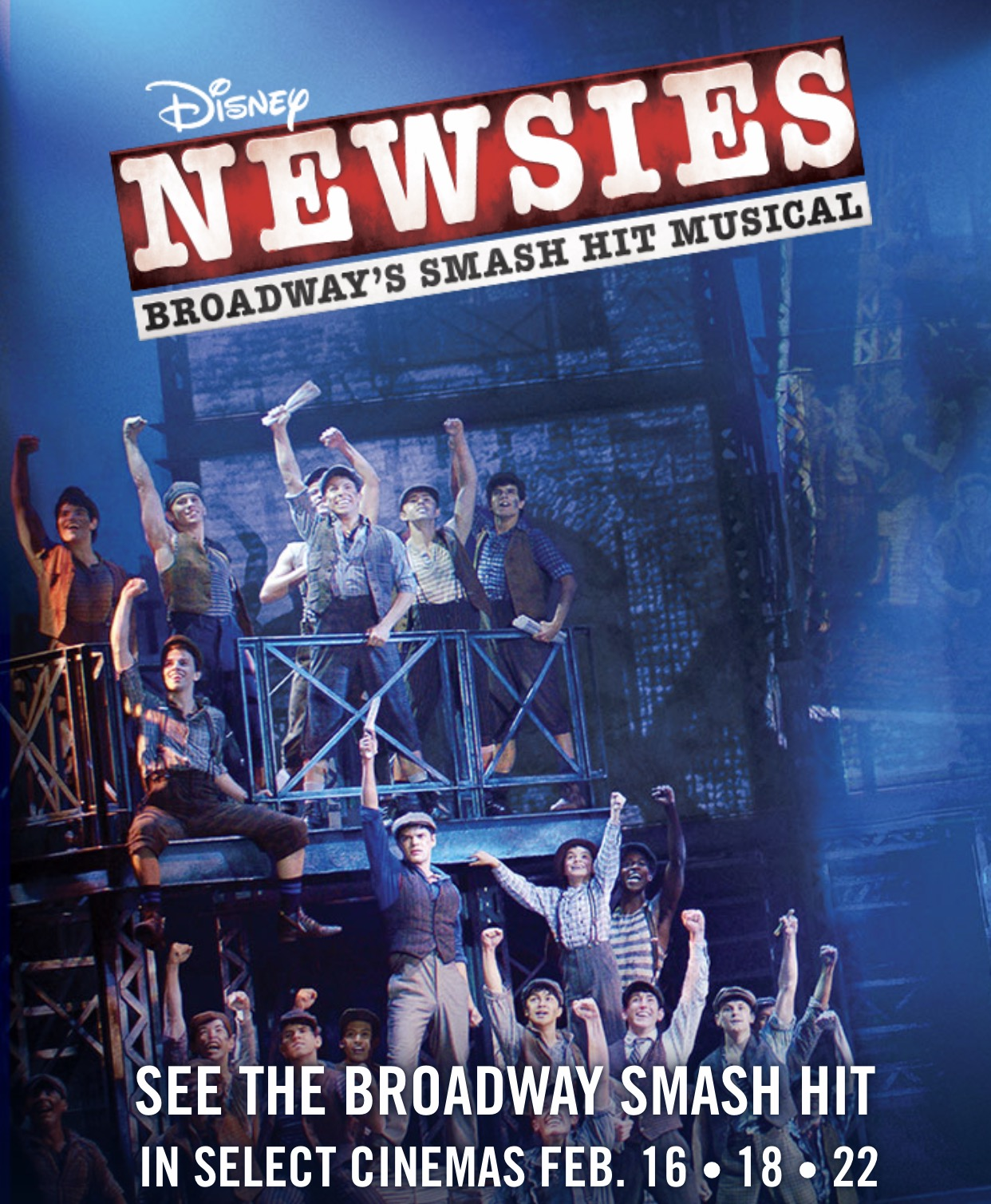 فیلم سینمایی Disney's Newsies the Broadway Musical به کارگردانی Brett Sullivan و Jeff Calhoun