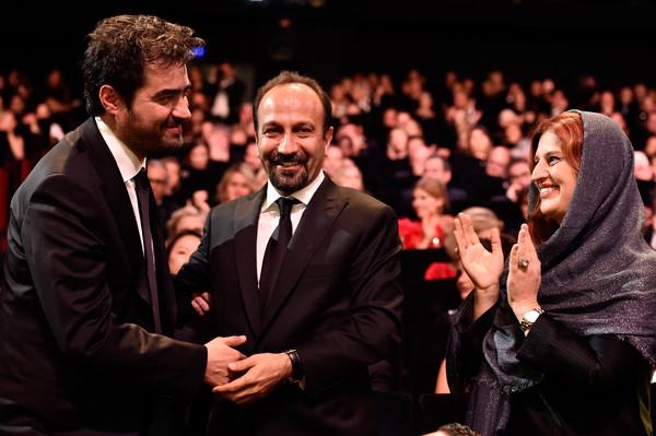 پریسا بختآور در جشنواره فیلم سینمایی فروشنده به همراه سیدشهاب حسینی و اصغر فرهادی