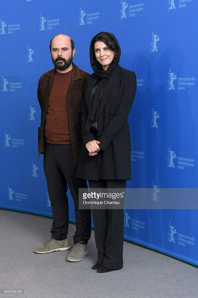 علی مصفا در نشست خبری فیلم سینمایی خوک به همراه پریناز ایزدیار
