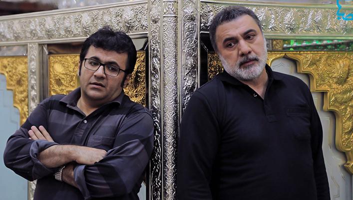 شهرام عبدلی در صحنه سریال تلویزیونی سر دلبران به همراه فرهاد قائمیان