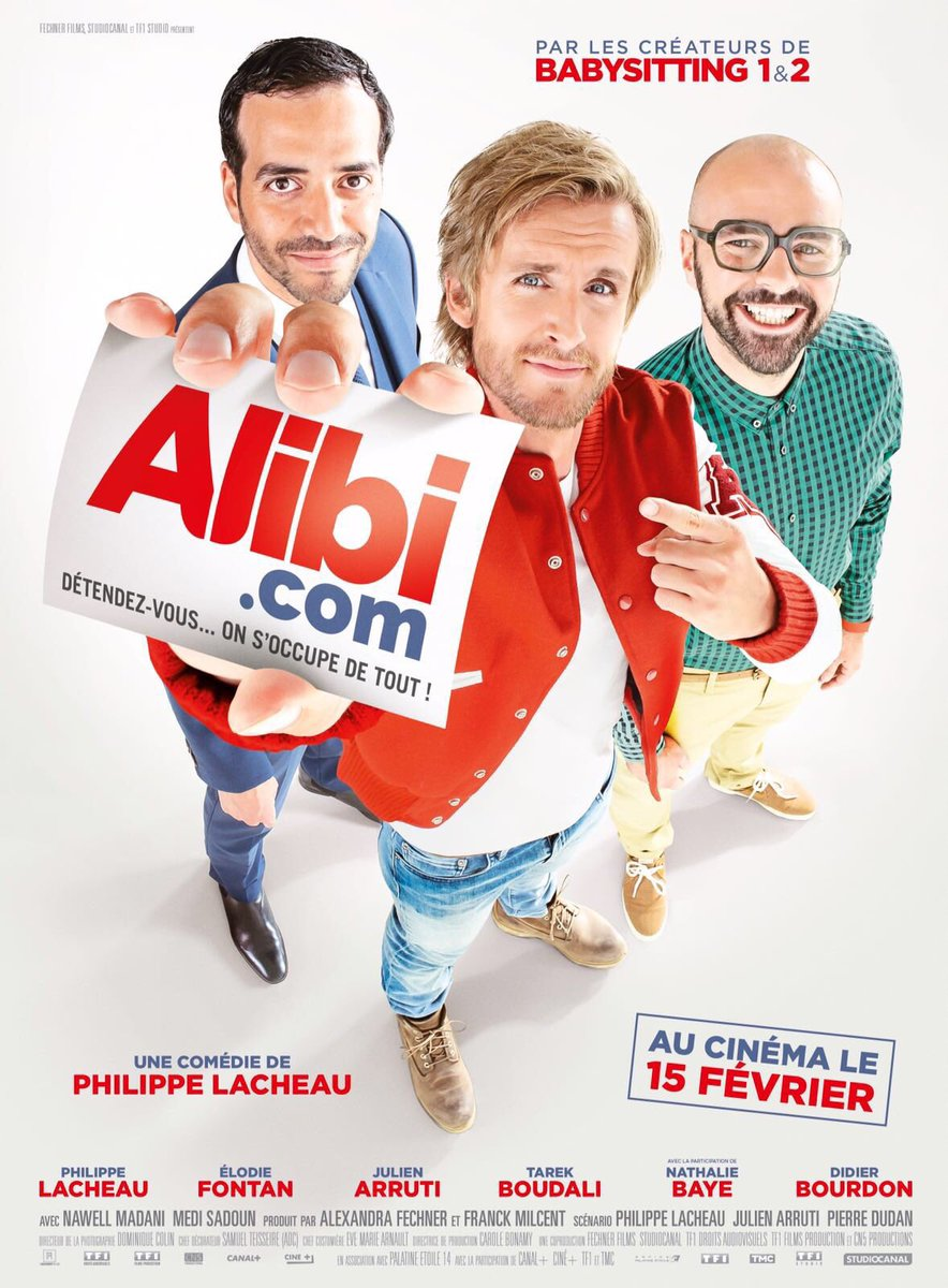 فیلم سینمایی Alibi.com با حضور Tarek Boudali، Philippe Lacheau و Julien Arruti