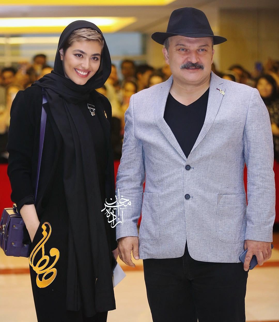 مهدی سلطانی، بازیگر سینما و تلویزیون - عکس جشنواره به همراه ریحانه پارسا