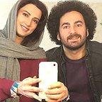 پشت صحنه سریال تلویزیونی زیر همکف با حضور سمیرا حسینی و سیدهومن شاهی
