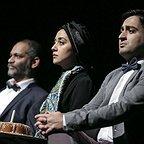 تصویری شخصی از سینا کرمی، بازیگر سینما و تلویزیون به همراه نادر فلاح و بهاره کیانافشار