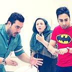 تصویری شخصی از سینا کرمی، بازیگر سینما و تلویزیون به همراه محسن کیایی و ژاله صامتی