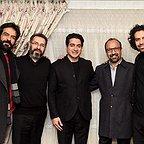 تصویری شخصی از سهراب پورناظری، آهنگ ساز و نوازنده سینما و تلویزیون به همراه همایون شجریان، بانیپال شومون و اصغر فرهادی