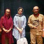هدایت هاشمی، بازیگر و مهمان سینما و تلویزیون - عکس مراسم خبری به همراه آزیتا حاجیان و مهراوه شریفینیا