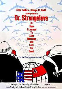 دکتر استرنجلاو یا: چگونه یاد گرفتم دست از هراس بردارم و به بمب عشق بورزم
