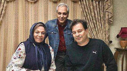 گوهر خیراندیش در کنار مهران مدیری و پیمان قاسم خانی/ شهاب حسینی درباره حسین محب اهری نوشت