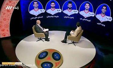 آنالیز دوندگی بازیکنان ایران بازی با مراکش برنامه 2018
