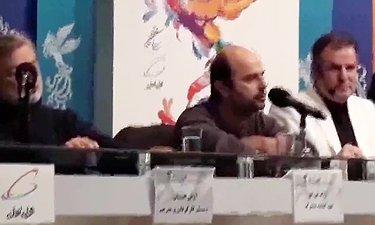 درگیری لفظی علی مصفا با یک خبرنگار در نشست پرسش و پاسخ فیلم «یلدا»