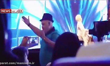 رقص اکبر عبدی در کنسرت سالار عقیلی