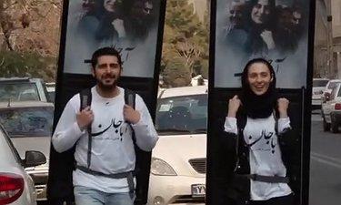 تبلیغات محیطی متفاوت «آباجان» با حضور محمدرضا غفاری