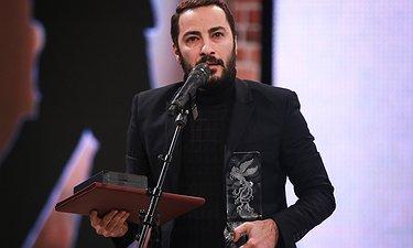 لحظه برنده شدن نوید محمدزاده برای سیمرغ بهترین بازیگر نقش مکمل مرد / اختتامیه فجر 35
