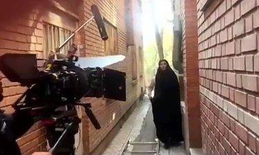 پشت صحنه تله فیلم چند خاکریز آن طرف تر به کارگردانی خسرو کریمی