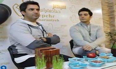 پیام تبریک منوچهر هادی و فرزاد فرزین